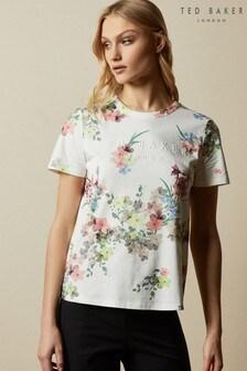 Ted Baker Cream Lileeyy Pergola Branded T-Shirt