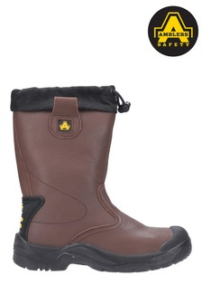 Amblers Safety Brown FS245 Antistatic Pull-On Safety Rigger Boots