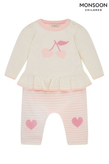 Monsoon Newborn Baby Cher Cherry Set
