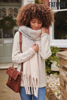 FatFace Natural Katie Yoke Jumper