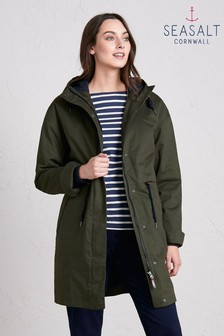 Seasalt Green Polperro 3 Season Coat