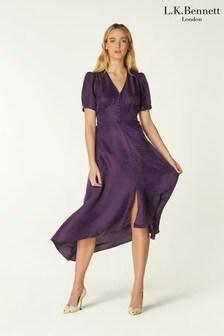 L.K.Bennett Purple Bryony Dress