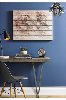 Wooden World Map Wall Art by Art For The Home