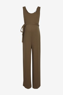 Maternity Ribbed Jersey Jumpsuit
