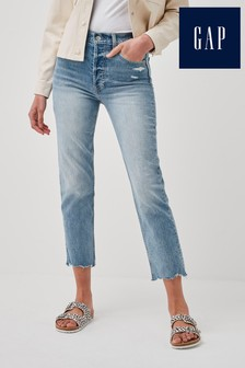 Gap Light Wash Straight Leg Jeans