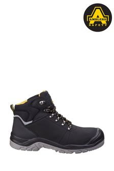 Amblers Safety Black AS252 Lightweight Water Resistant Leather Safety Boots