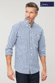 Joules Blue Hewney Classic Check Shirt
