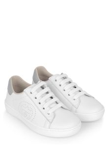 GUCCI Kids Leather New Ace Lace-Up Trainers