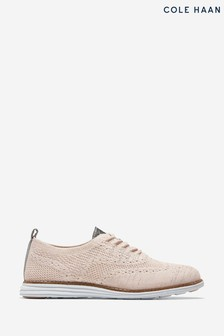 Cole Haan Pink OriginalGrand Stitchlite Wingtip Oxford Lace-Up Shoes