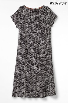 White Stuff Grey Luella Crinkle Dress