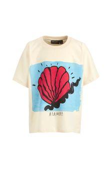 Girls Ivory Organic Cotton Shell T-Shirt