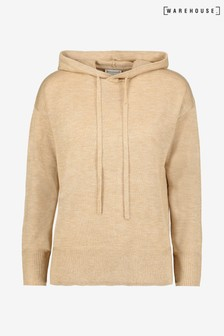 Warehouse Camel Hooded Jumper