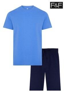 F&F Multi Blue Plain Set