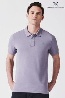 Crew Clothing Purple Classic Pique Polo
