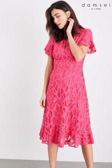 שמלת תחרה של Damsel In A Dress דגם Lulu בוורוד