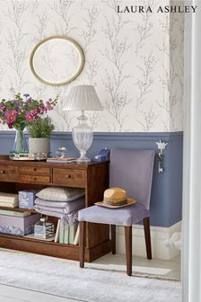 Laura Ashley Steel Pussy Willow Wallpaper