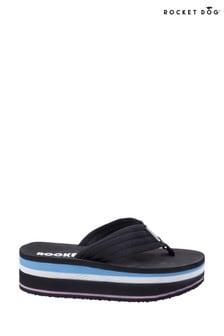Rocket Dog Black Jimmies OG Web Slip-On Sandals