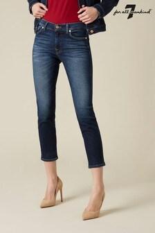 7 For All Mankind Dark Denim Roxanne Jeans