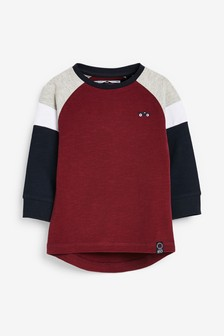 Long Sleeve Cosy Colourblock T-Shirt (3mths-7yrs)