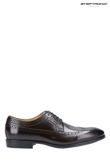 Steptronic Brown Francis Derby Lace-Up Shoes