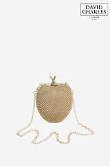 Złota torebka w kształcie jabłka wysadzana klejnocikami David Charles