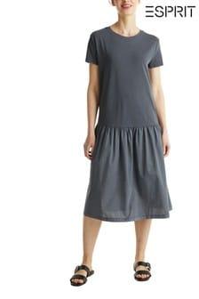 Esprit Black Woven Mix Maxi Dress