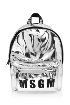 Kids Silver Logo Backpack