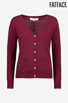 FatFace Red Lizzie Cardigan