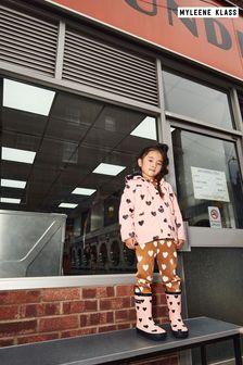 Myleene Klass Kids Pink Heart Raincoat