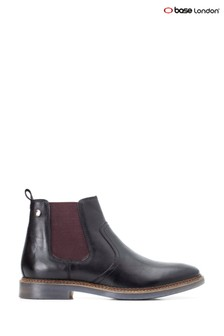 Base London® Black Piper Waxy Chelsea Boots