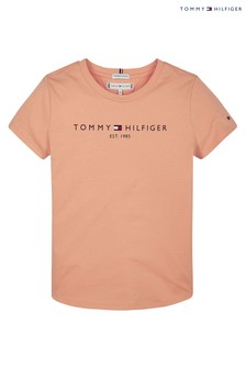 Tommy Hilfiger Orange Essential Branded T-Shirt