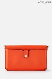 Accessorize Orange Pia Colourblock Chain Purse