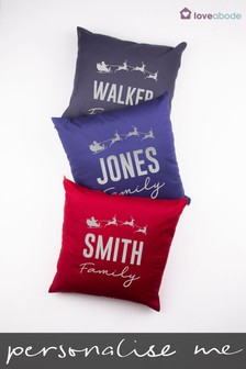 Personalised Family Christmas Cushion by Loveabode