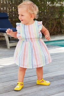 Boden Multi Rainbow Stripe Pinafore