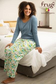 Frugi GOTS Organic Rainbow Print Comfy Pyjama Bottoms