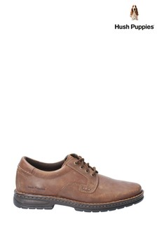 Hush Puppies Brown Outlaw II Lace-Up Shoes