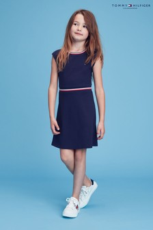Tommy Hilfiger Blue Essential Skater Dress