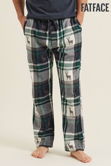FatFace Green Jacquard Stag Joggers