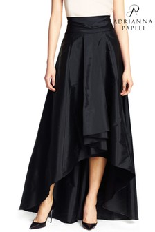 Adrianna Papell Black High Low Ball Skirt