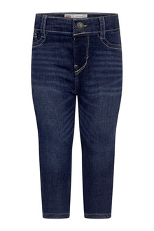 Baby Girls Blue Cotton Super Skinny Jeans