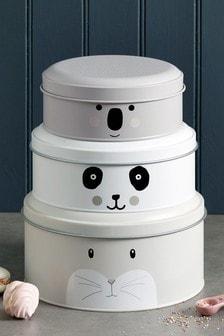 Set of 3 Animal Cake Tins