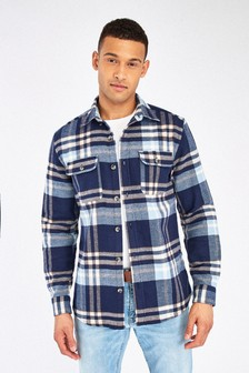 Brushed Flannel Heavyweight Check Shacket