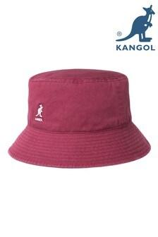 Kangol Burgundy Washed Bucket Hat