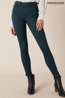 Monsoon Blue Nadine Organic Cotton Regular Denim Jeans