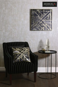 Gold Marble Geo Canvas by Arthouse