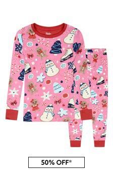 Hatley Kids & Baby Girls Organic Cotton Bright Pink Pyjama 2 Piece Set