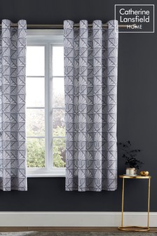 Art Deco Eyelet Curtains by Catherine Lansfield