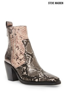 Steve Madden Metallic Snake Print Boots