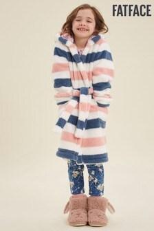 FatFace Pink Stripe Robe