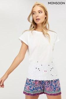 Monsoon Ladies White Kumar T-Shirt